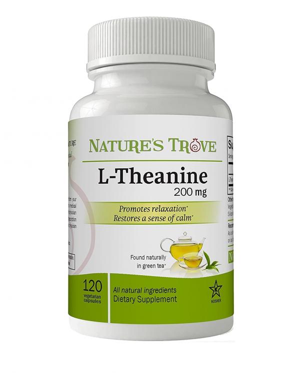 L-Theanine 200mg - 120 Vegetarian Capsules