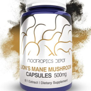 Lions Mane Mushroom Capsules 500mg Dietary Supplement