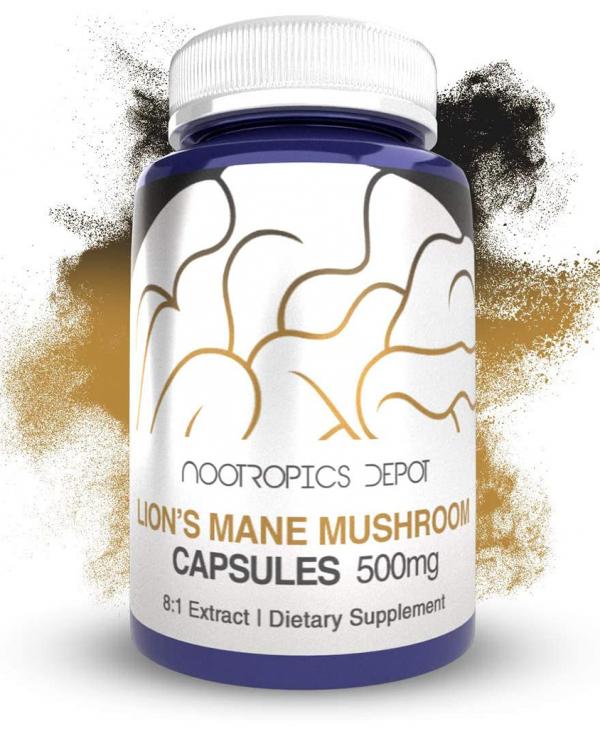 Lions Mane Mushroom Capsules 500mg Dietary Supplement