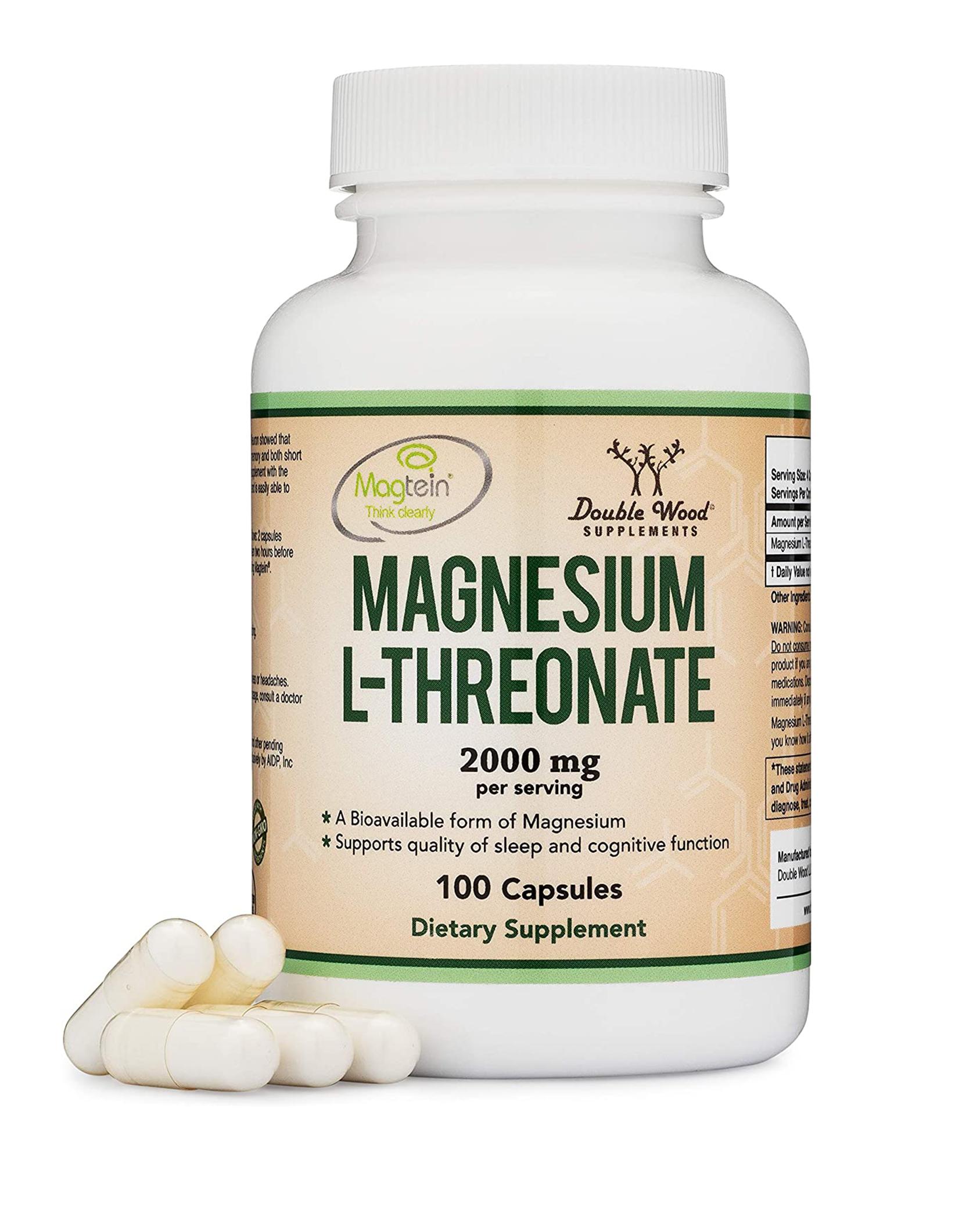 Magnesium L Threonate Capsules (Magtein) 100 Count