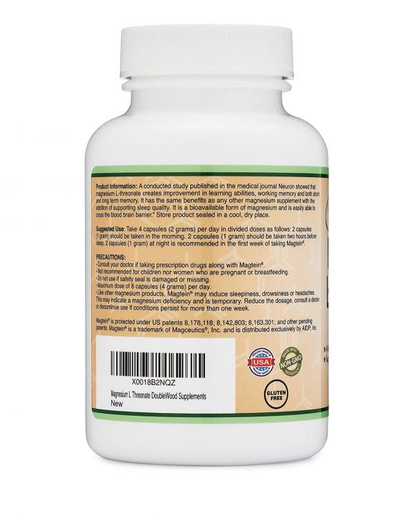 Magnesium L-Threonate Directions Precautions