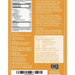 Organic Tumeric Powder Nutrional Facts Label